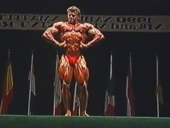 Ripped 80s vidz Bodybuilder Poses  super on Stage - Casey K.