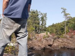 Edging standing vidz on a  super rock at the sight of everyone in my wank's jeans #2