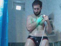 Showering in vidz Jockstrap