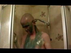 Green Gumge vidz Headshave Orgasm