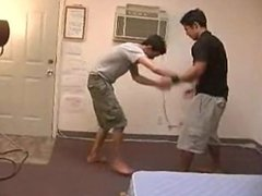 mike changster vidz tickle fight  super with corbin