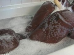 big black vidz dick taking  super a shower