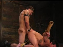 Muscle stud vidz torture and  super play with his victim