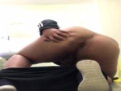 Fag strips vidz naked in  super public bathroom