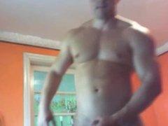 Eastern European vidz bodybuilder cum  super twice webcam