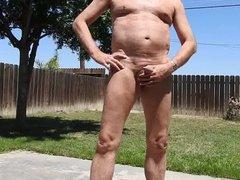 Peeing naked vidz outdoors.