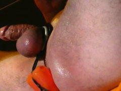 smooth shaved vidz swollen white  super cut cock & balls