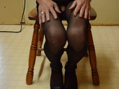 Cock Flash vidz in Crotchless  super Pantyhose