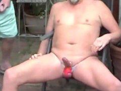 Piss on vidz my jock  super strap and suck my cock