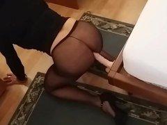 AnaKristina - vidz Dildo Fucked  super Through Pantyhose