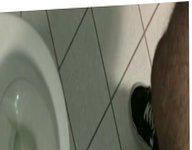 public toilet vidz jerking and  super cumshot