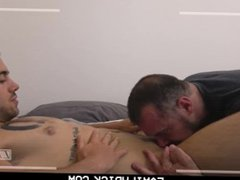 FamilyDick-Father and vidz son take  super turns fucking college roommate in dorm