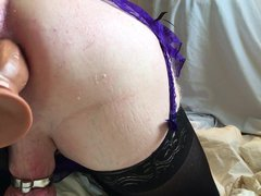 CD slut vidz mistycane dildo  super fucks her tight ass