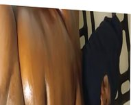 Oiled up vidz stroking my  super dick to BBW porn