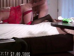 Cross dressing vidz slut in  super a hotel
