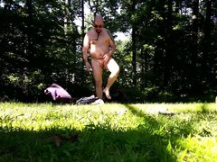 Masturbation in vidz The Woods  super (Outdoor, Public Nudity)