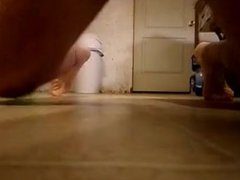 Curved thick vidz horny small  super dick hump & tap on floor