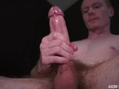 Straight Dad vidz milks a  super load from his huge cock HD