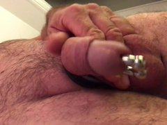 my big vidz dildo in  super my ass metal cockring latex pierced dick