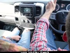 FamilyDick-Petite Twink vidz Barebacked in  super the Woods by Bearded Daddy