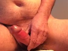 wanking my vidz hard cock  super with precum and loads of cum