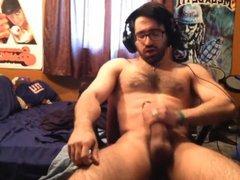 Enjoying Himself vidz With A  super Huge Cumshot