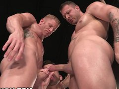 Trained Hard vidz and Fucked  super Hard by 2 Muscle Daddies