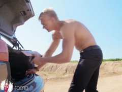 Gay blonde vidz porn with  super naked muscle man playing the main role