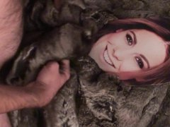 Playing with vidz Louise Thompson  super in fur