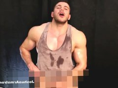 Pumped oil vidz wank two