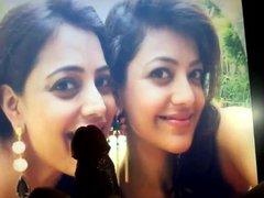 Cum tribute vidz to Kajal  super and Nisha