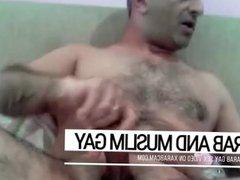 Cum splashes vidz on a  super furry body. Arab gay Libyan is a fountain of manhood