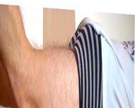 Hidden cam vidz guy changing  super underwear