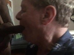 White Trash vidz Fag Sucks  super Off a HUGE Black Cock!