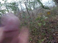 Flashing in vidz the forest  super cum piss and ass