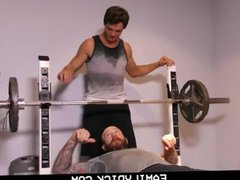FamilyDick - vidz Older tattooed  super muscle daddy coaches virgin step son on thick c
