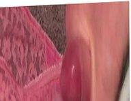 Massive cumshot vidz over wife's  super pink panties