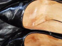 Cumming on vidz another man's  super wife patent work heels