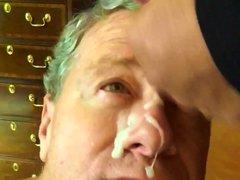 Slow Motion vidz Video Old  super Faggot Gets Cum Facial