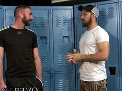Horny Dustin vidz Steele spreads  super his ass for Tyler Phoenix
