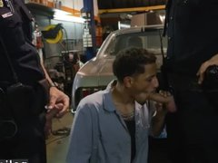 Cops get vidz blowjob by  super gay guy Get banged by