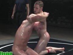 Oiled wrestling vidz hunks fight  super before anal sex