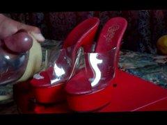 cum on vidz red sexy  super platforms heels