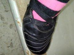 Gumming My vidz wifes sock  super and ballerina