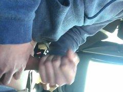 Jerking off vidz in the  super car