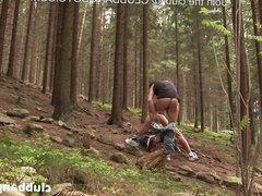 Caught masturbating vidz and fucked  super bareback in the woods