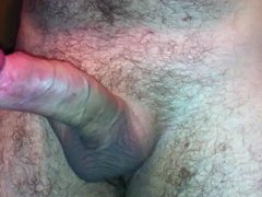 Playing with vidz my huge  super cock