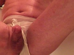 Wet white vidz panties and  super golden shower