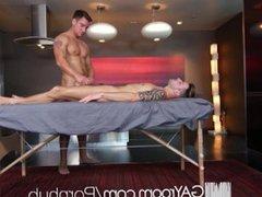 GayRoom Oiled vidz up massage  super fuck with Casey Everett and Jordan Boss