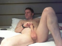 english dad vidz showing off  super his hung cock